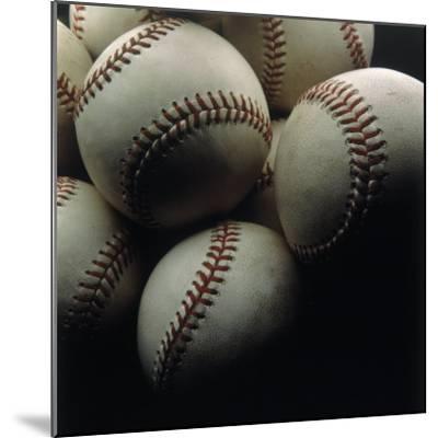 Still Life of Baseballs-Howard Sokol-Mounted Photographic Print
