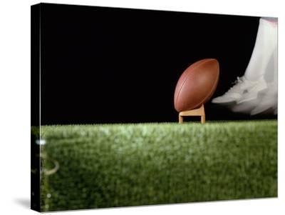 Football Player Preparing for a Kickoff--Stretched Canvas Print