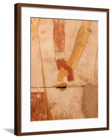 Wall Painting of Figures Holding Hands, Egypt-Michele Molinari-Framed Photographic Print
