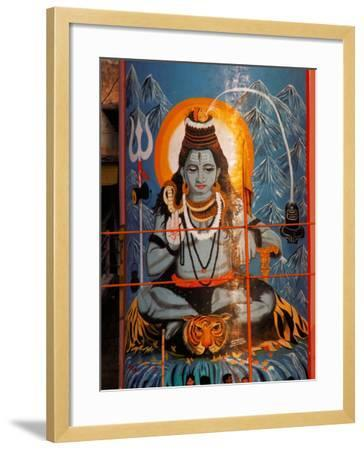 Vishnu Hindu God Mural, India-Dee Ann Pederson-Framed Photographic Print