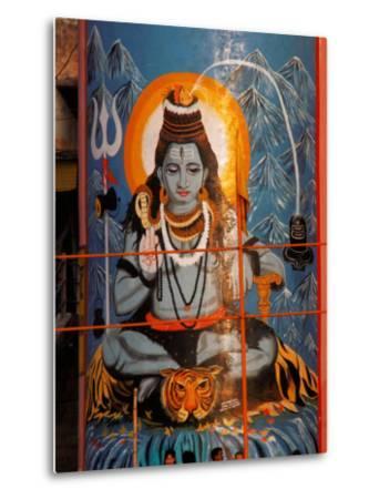 Vishnu Hindu God Mural, India-Dee Ann Pederson-Metal Print