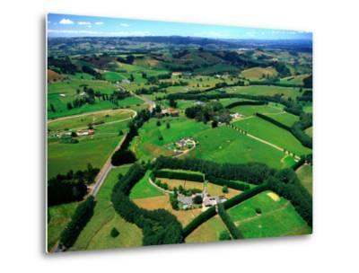 Farmland, Brookby, South Auckland, New Zealand-David Wall-Metal Print