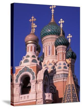 Russian Orthodox Cathedral in Nice, Cote D'Azur, France-Nik Wheeler-Stretched Canvas Print