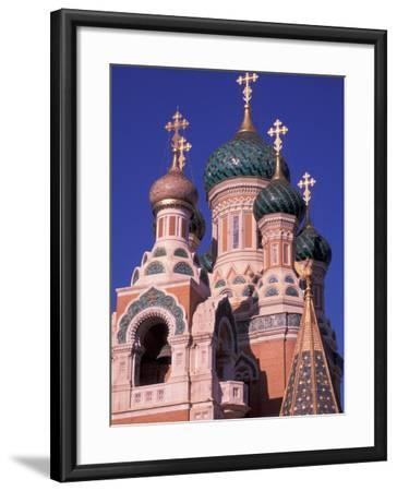 Russian Orthodox Cathedral in Nice, Cote D'Azur, France-Nik Wheeler-Framed Photographic Print