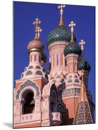 Russian Orthodox Cathedral in Nice, Cote D'Azur, France-Nik Wheeler-Mounted Photographic Print
