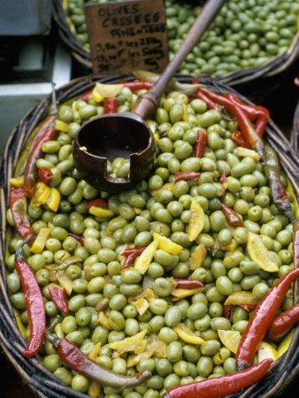 Olives of Uzes, Languedoc, France-Nik Wheeler-Framed Photographic Print