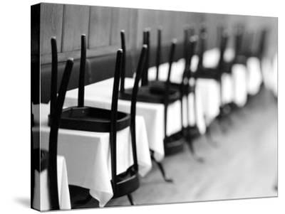 Restaurant Tables in Berne, Switzerland-Walter Bibikow-Stretched Canvas Print