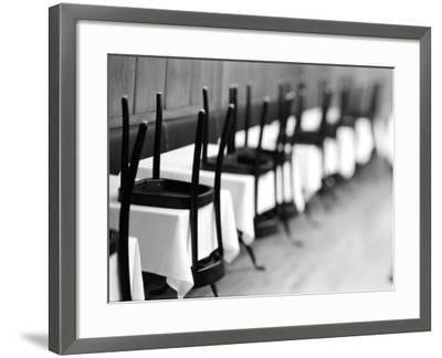Restaurant Tables in Berne, Switzerland-Walter Bibikow-Framed Photographic Print