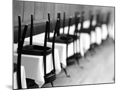 Restaurant Tables in Berne, Switzerland-Walter Bibikow-Mounted Photographic Print