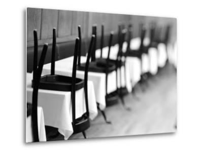 Restaurant Tables in Berne, Switzerland-Walter Bibikow-Metal Print