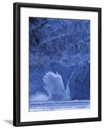 Ice Calves off Tidewater Surprise Glacier, Harriman Fjord, Prince William Sound, Alaska, USA-Hugh Rose-Framed Photographic Print