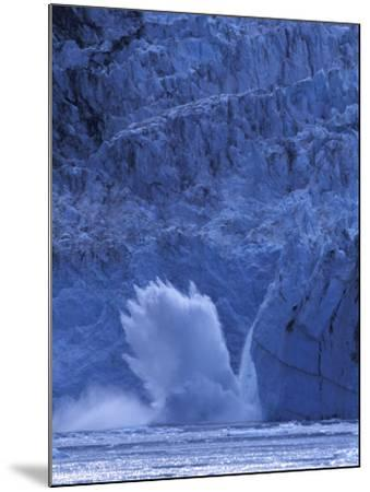 Ice Calves off Tidewater Surprise Glacier, Harriman Fjord, Prince William Sound, Alaska, USA-Hugh Rose-Mounted Photographic Print