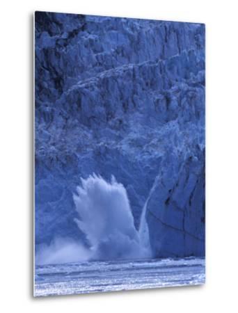 Ice Calves off Tidewater Surprise Glacier, Harriman Fjord, Prince William Sound, Alaska, USA-Hugh Rose-Metal Print