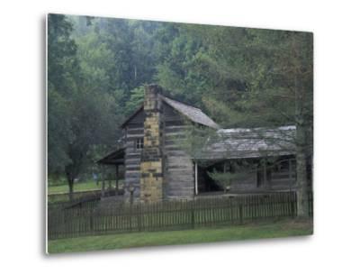 Dillion Ahser Cabin, Red Bird, Kentucky, USA-Adam Jones-Metal Print