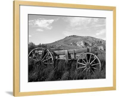 Old Wood Wagon near Mining Ghost Town at Bannack State Park, Montana, USA-John & Lisa Merrill-Framed Photographic Print