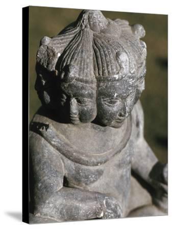 Miniature Religious Hindu Sculpture--Stretched Canvas Print