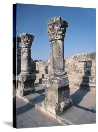 Beautiful Carved Stone Pillars--Stretched Canvas Print