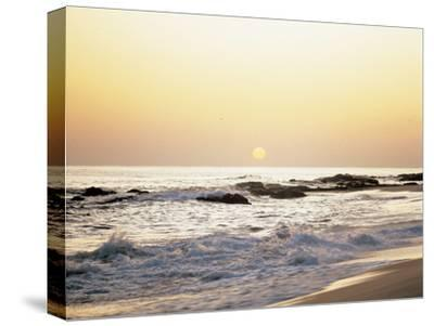 Sunset over the Sea--Stretched Canvas Print