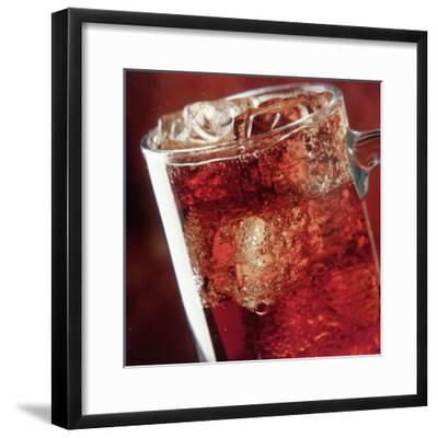 Glass of Cola Drink with Ice-John James Wood-Framed Photographic Print