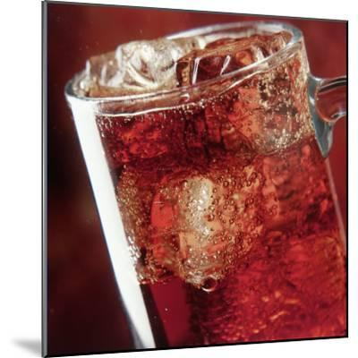 Glass of Cola Drink with Ice-John James Wood-Mounted Photographic Print
