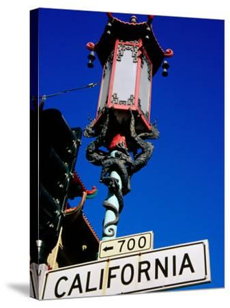 Street Lamp in Chinatown, San Francisco, United States of America-Richard Cummins-Stretched Canvas Print