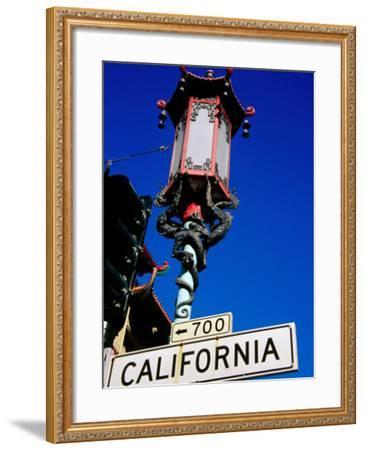 Street Lamp in Chinatown, San Francisco, United States of America-Richard Cummins-Framed Photographic Print