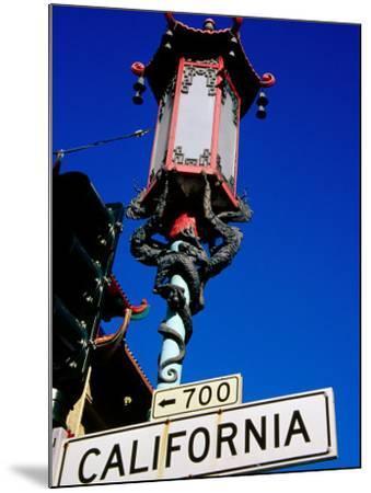 Street Lamp in Chinatown, San Francisco, United States of America-Richard Cummins-Mounted Photographic Print