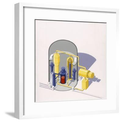 A Painting of an Improved Reactor Design by Pierre Mion-Pierre Mion-Framed Photographic Print