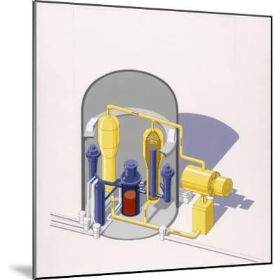 A Painting of an Improved Reactor Design by Pierre Mion-Pierre Mion-Mounted Photographic Print