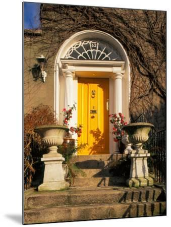 Stairs Leading to Bright Yellow Door, Dublin, Ireland-Tom Haseltine-Mounted Photographic Print