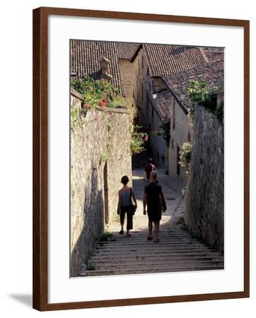 Steep Alleyway, Gubbio, Umbria, Italy-Inger Hogstrom-Framed Photographic Print