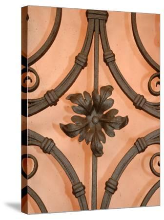 Wrought-Iron Gate Detail, Lake Orta, Orta, Italy-Lisa S^ Engelbrecht-Stretched Canvas Print