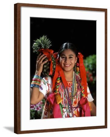 Colorful Dancer, Tourism in Oaxaca, Mexico-Bill Bachmann-Framed Photographic Print