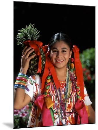 Colorful Dancer, Tourism in Oaxaca, Mexico-Bill Bachmann-Mounted Photographic Print