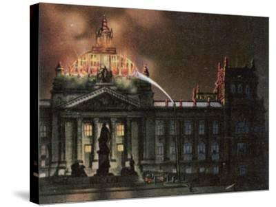 The Reichstag Destroyed by Fire--Stretched Canvas Print