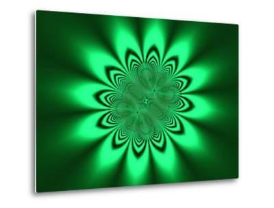Abstract Pattern on Green Background-Albert Klein-Metal Print