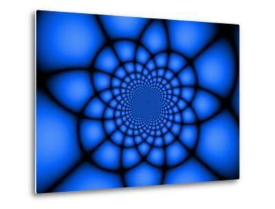 Abstract Blue Fractal Design-Albert Klein-Metal Print