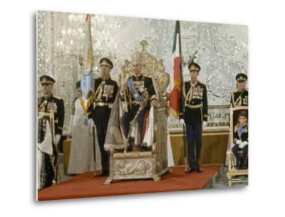 Portrait of the Shah of Iran Taken During Coronation Ceremonies, Gulistan Palace, Tehran, Iran-James L^ Stanfield-Metal Print