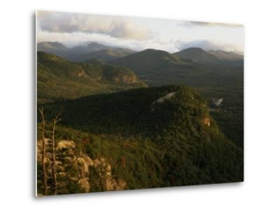 Cathedral Ledge and the White Mountains, New Hampshire-Phil Schermeister-Metal Print