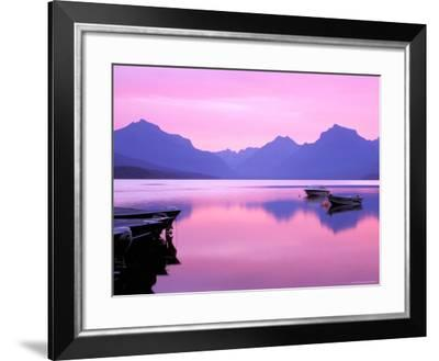 Lake McDonald at Dawn, Glacier National Park, Montana, USA--Framed Photographic Print