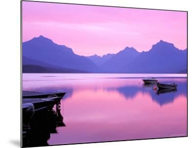 Lake McDonald at Dawn, Glacier National Park, Montana, USA--Mounted Photographic Print