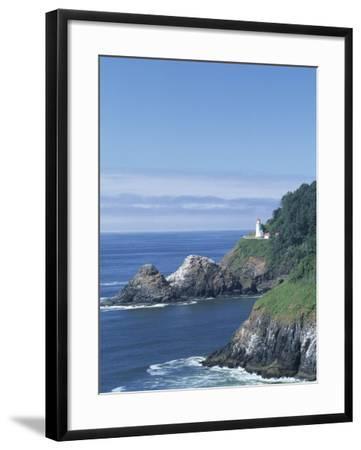 Heceta Head Lighthouse and Seastacks, Cape Sebestian, Oregon, USA-John & Lisa Merrill-Framed Photographic Print