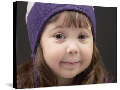 Little Girl in Toque--Stretched Canvas Print