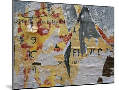 Close-Up of Torn Posters on a Wall in Venice-Todd Gipstein-Mounted Photographic Print