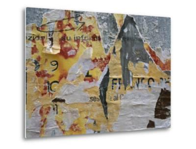 Close-Up of Torn Posters on a Wall in Venice-Todd Gipstein-Metal Print