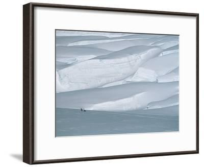 Climber in Denali Is Dwarfed by the Surrounding Snowy Landscape-Bill Hatcher-Framed Photographic Print