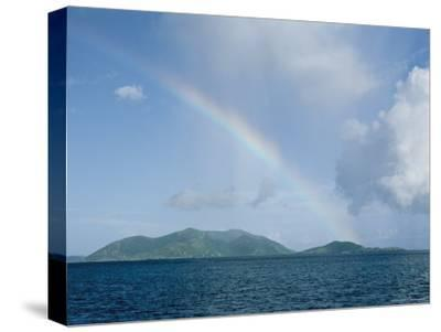Rainbow over the British Virgin Islands-Heather Perry-Stretched Canvas Print