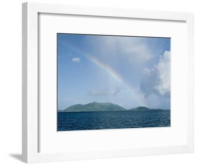 Rainbow over the British Virgin Islands-Heather Perry-Framed Photographic Print