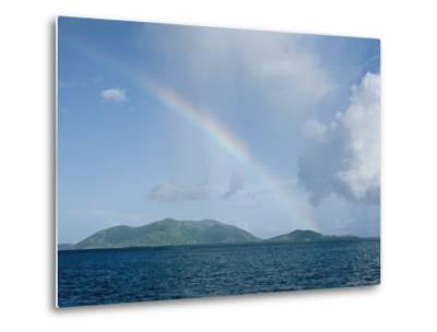 Rainbow over the British Virgin Islands-Heather Perry-Metal Print