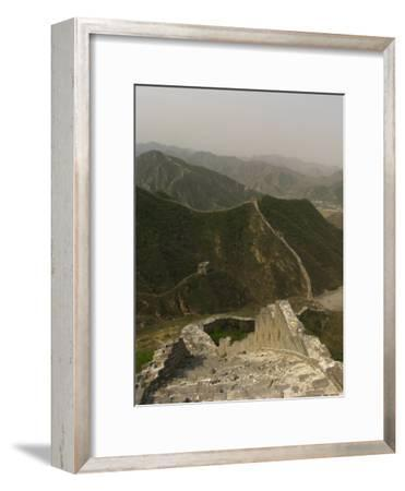 The Great Wall of China at the Juyongguan Pass-Richard Nowitz-Framed Photographic Print